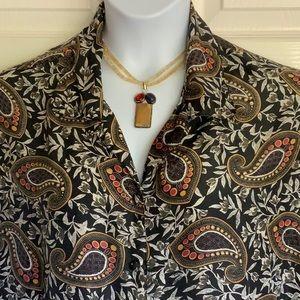 TESS WOMEN..100% silk plus size blouse